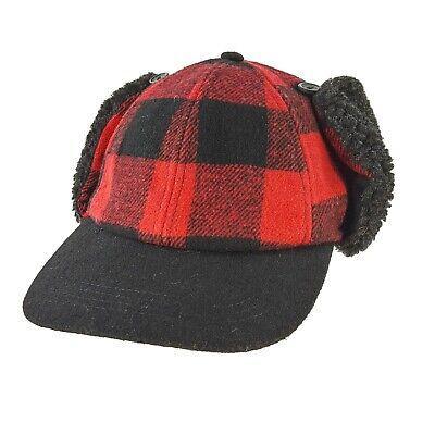 f00054e15b7 Urban Pipeline Red Buffalo Plaid Ear Flap Trapper Cap Hat Hunting Size S M  NEW