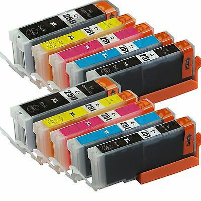 10 Pack Ink For Canon PGI-250XL CLI-251XL Pixma IP7220 MG5420 MG6320 MX722 MX922