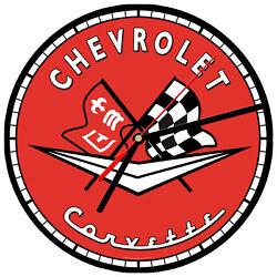 8 WALL CLOCK - Vintage Looking Sign Garage #13 Chevrolet Corvette Sports Car