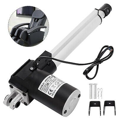 8 Stroke Linear Actuator 6000n1320lbs Max Lift 12v Dc Motor Mouting Brakets