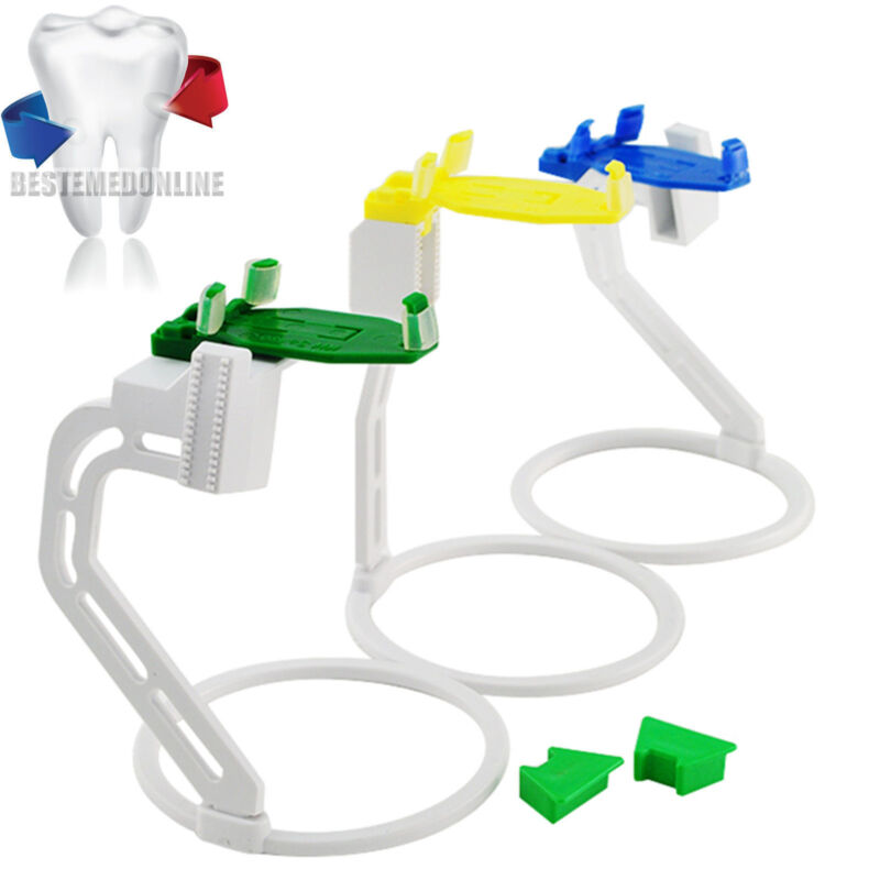 CE+FDA- Dental X-Ray Film Digital Sensor Positioner Aligner Holders Kit 3 Pcs