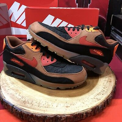 Nike Air Max 90 HW QS Halloween 717942 006 Size 10 Black Cognac 95 97 Jordan III - Air Max 95 Halloween