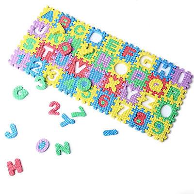 (Mini 36pcs Puzzle Kid Toy Alphabet 0-9 A-Z Letters Numeral Foam Mat)