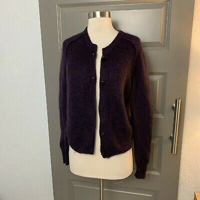 ACNE Purple Mohair Cardigan Sweater Small EUC