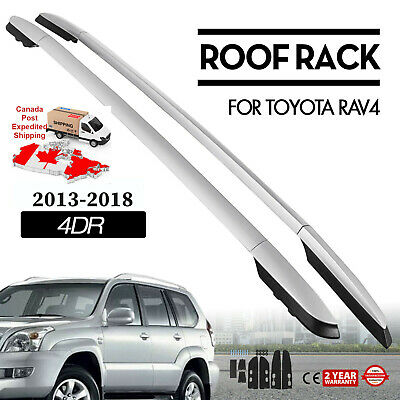 Car Top Roof Rack Side Rails Bars Silver Set for Toyota RAV4 2013-2019 factory