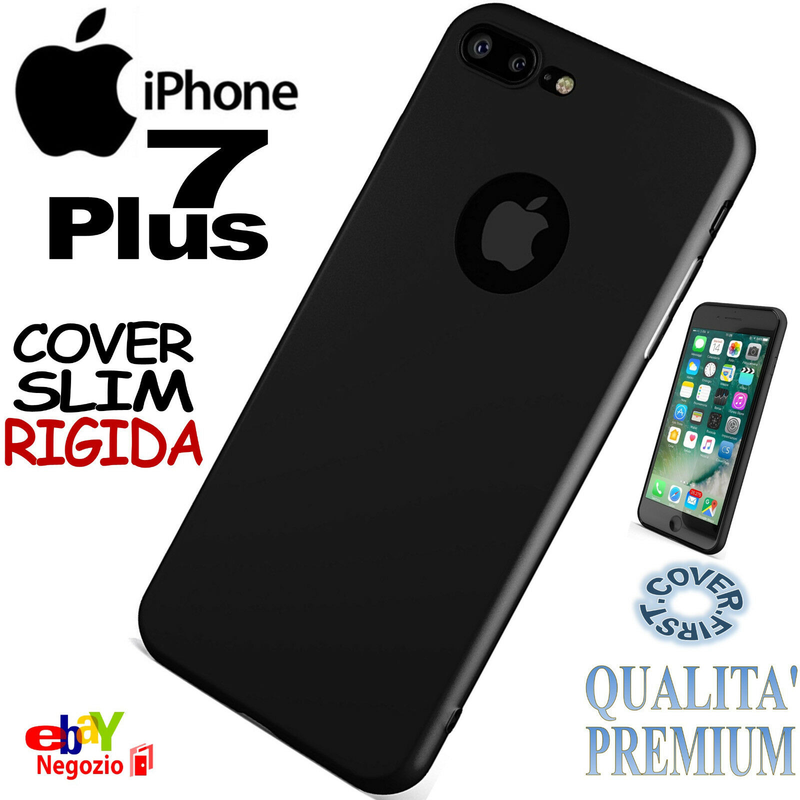 Custodia Plastica Rigida Opaca con Foro per Apple iPhone 5 Bianco