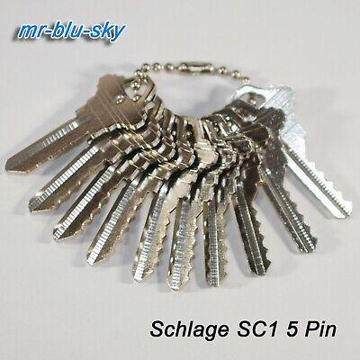Schlage Sc1 Space Depth Keys Locksmith Code Cutting Key Set