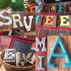 Chalk painted initials