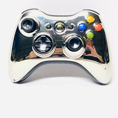RARE Xbox 360 Chrome Series SILVER Wireless Controller TESTED Fast Shipping