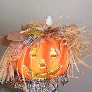 """7"""" fibre optic pumpkin $20.00"""