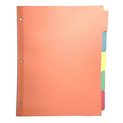 Avery Plain Write-on Tab 3-ring Binder Pastel 5-color Paper Indexes - 36 Sets