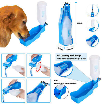 Botella bebedero de agua portatil 350 ml para mascota perros, cierre hermetico