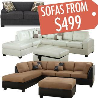 NEW FROM ONLY $499 BEAUTIFUL SOFA, COUCH, LOUNGE SETS- SAVE $$$ Mackay 4740 Mackay City Preview
