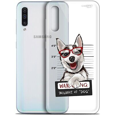 "Coque Gel Samsung Galaxy A50 (6.4"") Extra Fine - Beware The Husky Dog 1"