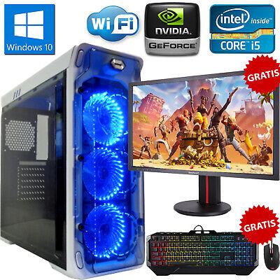 PC COMPUTER DA GIOCO GAMING QUAD CORE i5 RAM 8GB HDD 1TB MONITOR MOUSE TASTIERA