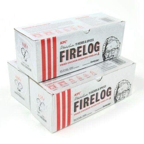 LOT OF 3 NEW Genuine KFC Fire Log 11 Herb Spice ENVIROLOG Kentucky Fried Chicken
