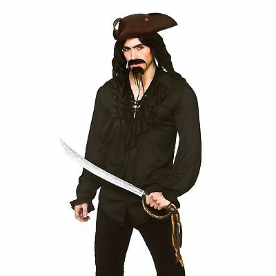 Pirate Vampire Shirt Halloween Fantasy Horror Adults Mens Fancy Dress Costume - Vampire Pirate Costume