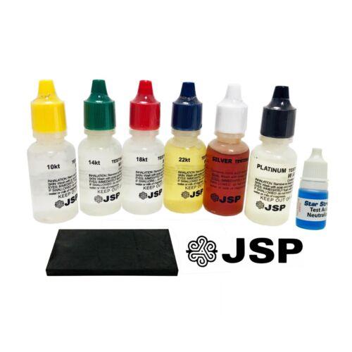 6 Gold Silver Testing Acid Jewelry Test Kit and Scratch Stone w/ Neutralizer