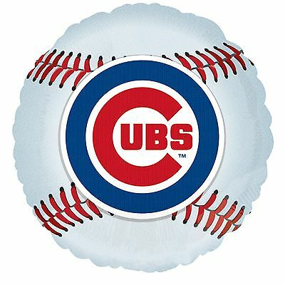 Chicago Cubs Baseball Foil Balloon MLB Licensed Tailgate Party - Balloon Baseball