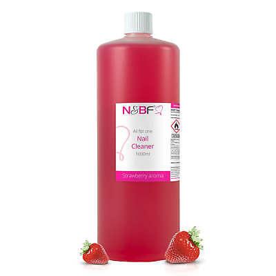 Nagel Cleaner mit Erdbeer Duft 1000ml / 1L Entferner Remover - Made in Germany ()