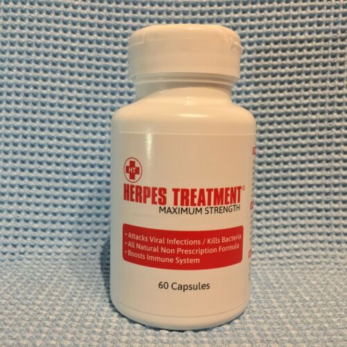 HERPES CURE TREATMENT - 100% NATURAL - 60 CAPSULES   - Dr. Sebi