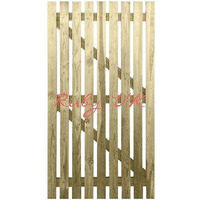 Bespoke 180cm x 86.5cm Treated Wooden Picket Garden Side Gate Flat Top