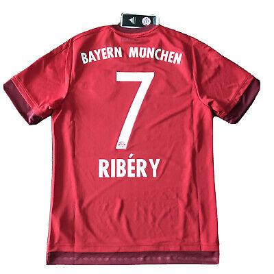 2015/16 Bayern Munich Home Jersey #7 Ribery Medium Adidas Soccer Football NEW image