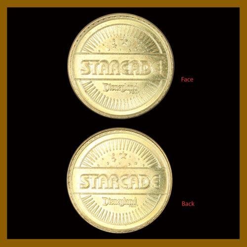 """Disney """"Disneyland"""" Starcade arcade Token Disney coins star, New Unc"""