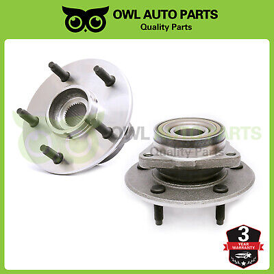 Set Front Wheel Bearing Hub Assembly for 2000 2001 Dodge Ram 1500 4x4 4WD No ABS