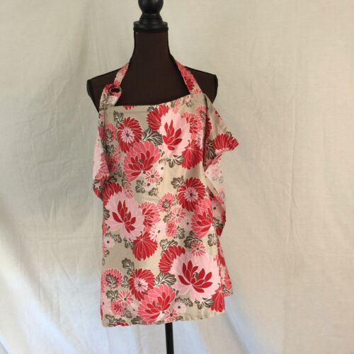 Vidder Covers For Nursing Mothers Red/Pink/Brown/Tan Floral Breathable