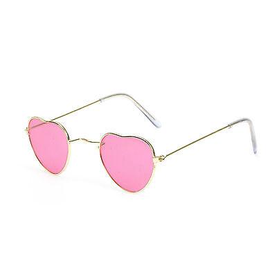 Novelty Pink Heart Shaped Hippie Festival Fancy Dress Party Glasses