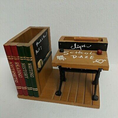 School Daze Office Wooden Desk Organizer Sorter And Pen Holder Storage
