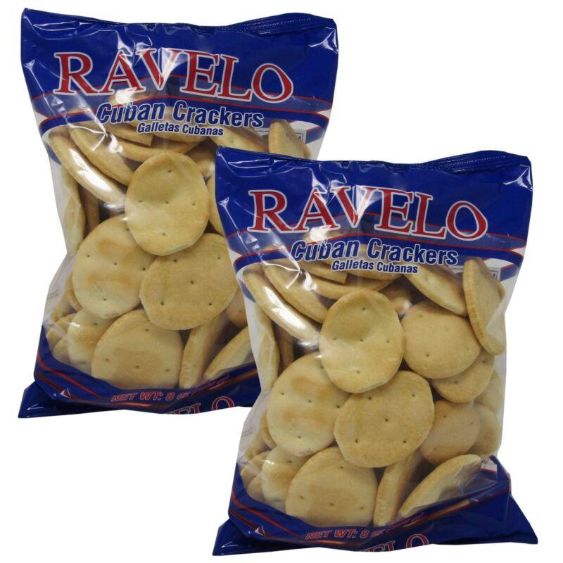 Ravelo Crackers Cuban Galletas Cubanas 8 oz (226 gr) (2 BAG PACK)