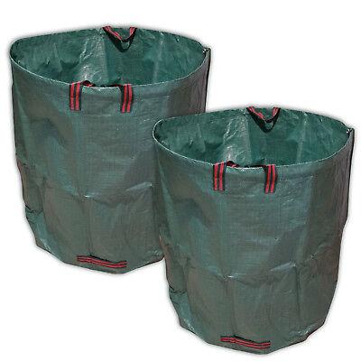 VABIONO 2x 500 Liter Gartensack Laubsack Premium aus solidem Polypropylen-Gewebe ()