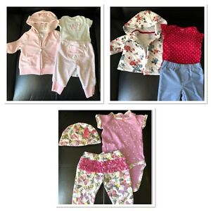 Baby girls clothes and other accessories for 0-3 months
