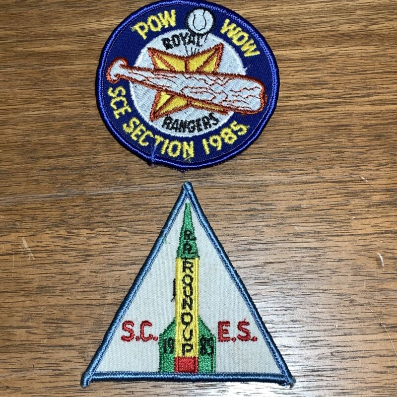 Vintage Royal Rangers Patch Badge 2 1985 SCES Pow Wow Round-Up
