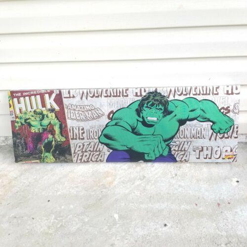 "The Incredible Hulk Marvel Comics 12"" x 36"" Art Canvas Print Wood Frame"