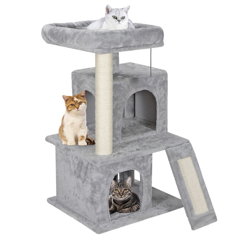 "Cat Tree Tower 34"" STURDY Activity Center Large Playing House Condo For Rest & S"