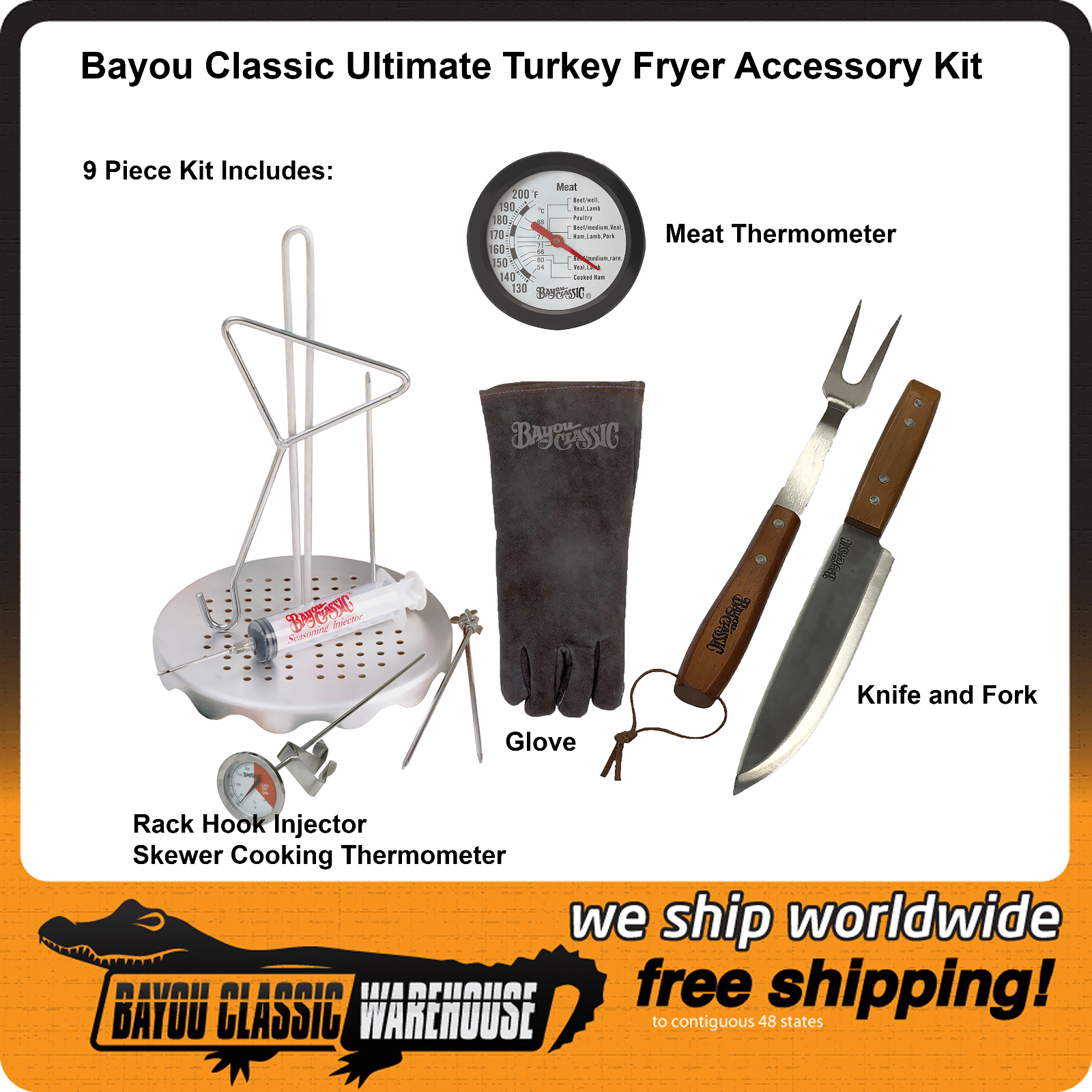 Bayou Classic Turkey Poultry Chicken Rack Ultimate Accessory