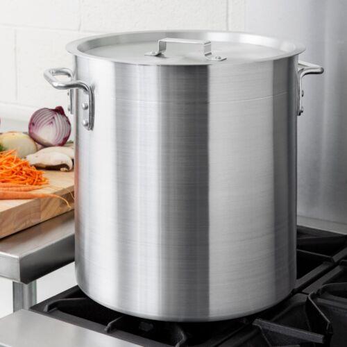 40 Qt. NSF Aluminum Restaurant Kitchen Commercial Stock Pot with Lid Cover