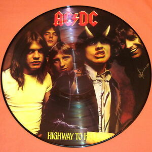 AC/DC HIGHWAY TO HELL LP PICTURE DISC UK RARE PIC DISK VINYL BON SCOTT ROCK