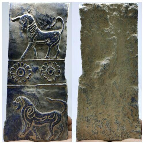Sassanian Ancient Lapis lazuli stone unique big relief Tile stone