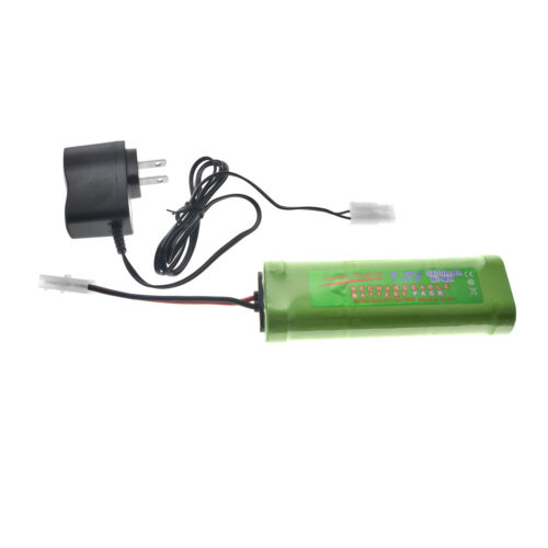 7.2V 3800mAh NiMH Rc Car Battery Pack with Charger - 7.2 Vol