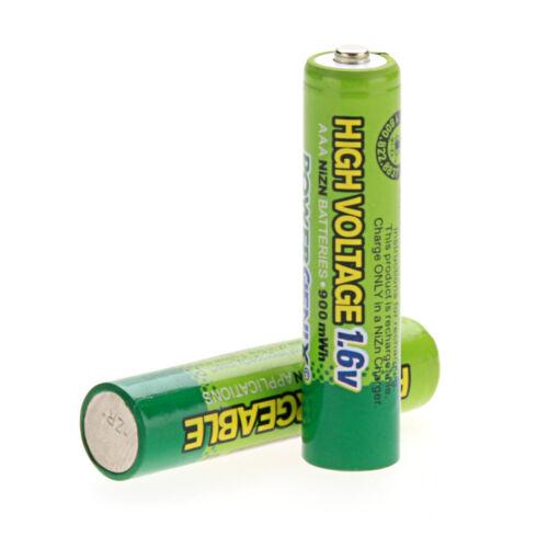 Neu Eingetroffen 2 Stück 900mWh 1.6V AAA 3A Nizn Wiederaufladbare Batterie