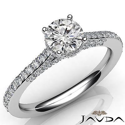 Circa Halo Comfort Fit Pave Set Round Diamond Engagement Ring GIA E VS2 1.15Ct