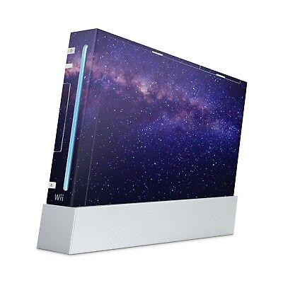Nintendo Wii Aufkleber Skin Klebefolie Schutzfolie Sticker Vinyl Milky Way ()