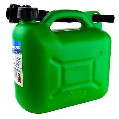 Plastic Fuel Jerry Gerry Can Petrol Diesel Liquid Tank Green 5l Litre Sil219