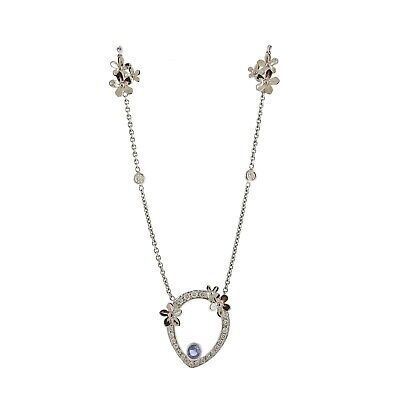 Theo Fennell 18k Gold Diamond Sapphire Flower Pendant Necklace -