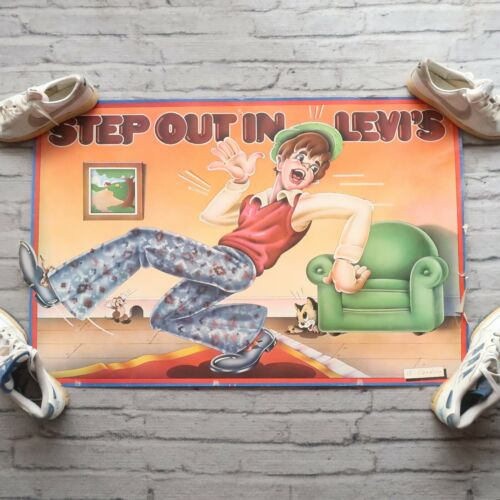 Vintage Levis Step Out In Levis Advertising Poster Willardson