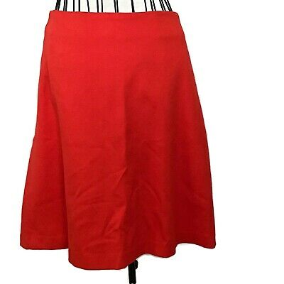 Cabi Stretch Knit A Line Skirt Back Zip Red Knee Length Size 10 A-line Back Zip Skirt